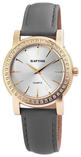 Raptor Damen-Uhr Oberseite Echt Leder Strass Stein Elegant Analog Quarz RA10153