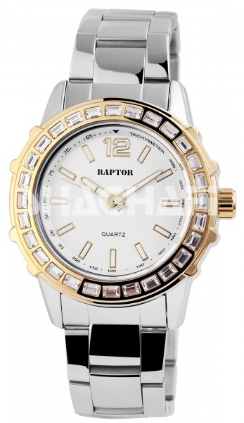 Raptor Damen-Uhr Edelstahl Armband Analog Quarzwerk RA10131
