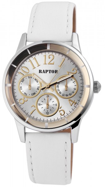 Raptor Damen-Uhr Armband Oberseite Echtleder Analog Quarz RA10111-002