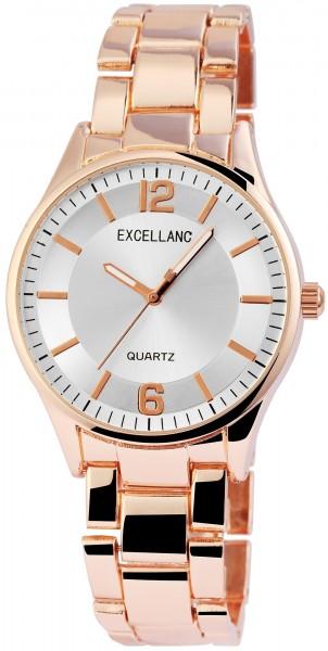 Excellanc Damen – Uhr Metall Armbanduhr Leuchtzeiger Analog Quarz 1800130