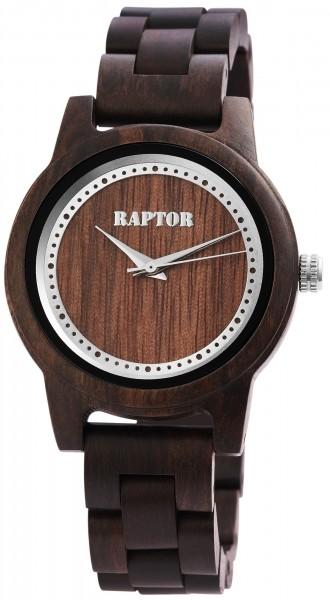 Raptor Damen Armbanduhr RA087 Holzband Analog RA20042