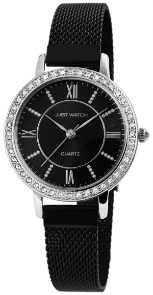 Just Watch Damen-Uhr Edelstahl Milanaiseband JW126 Strass Analog Quarz JW10064