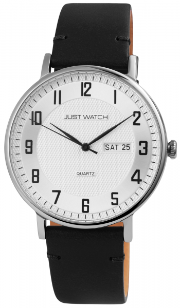 Just Watch Herren-Uhr Echt Leder JW275 Datum Wochentag Analog Quarz JW20137