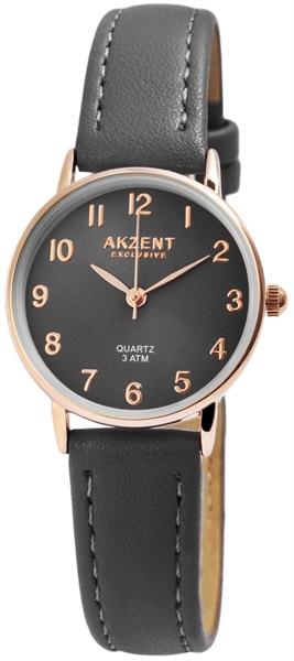 Akzent Exclusive Damen - Uhr Lederimitations Armbanduhr Dornschließe Analog Quarz 1900208
