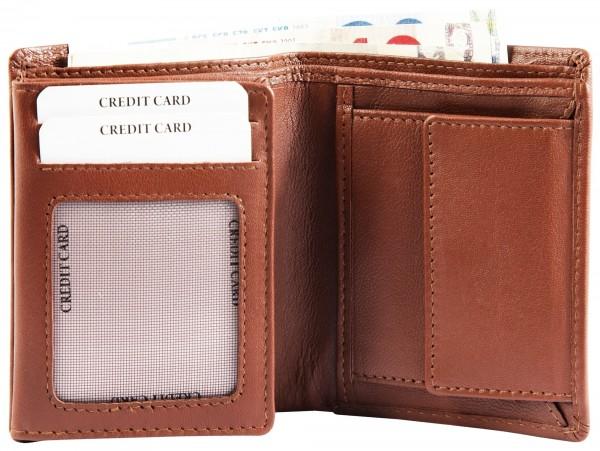 Excellanc Herren-Geldbörse Echt Leder 8,5 x 11 cm Hohformat RFID 3000367