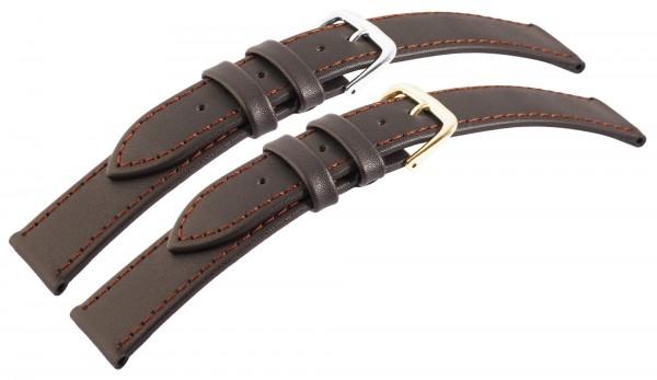 7daysin-Ersatzarmband Echt Leder Ziernähte Gold- und silberfarbig 10 Stück 8000258