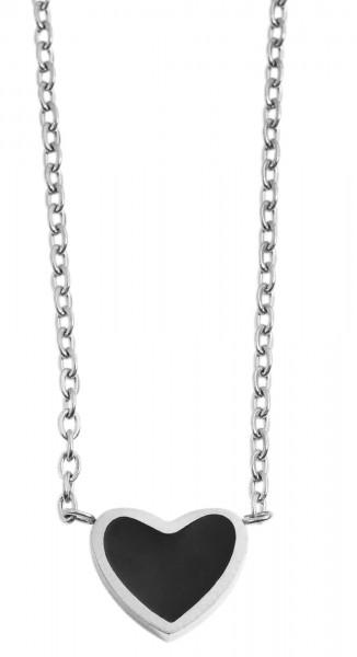 Akzent Damen - Halskette Herz Anhänger Edelstahl Ankerkette 43+5cm 5010253