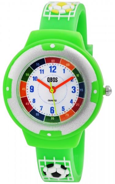 QBOS Kinder-Uhr Silikon Fußball Lernuhr Analog Quarz 4500022