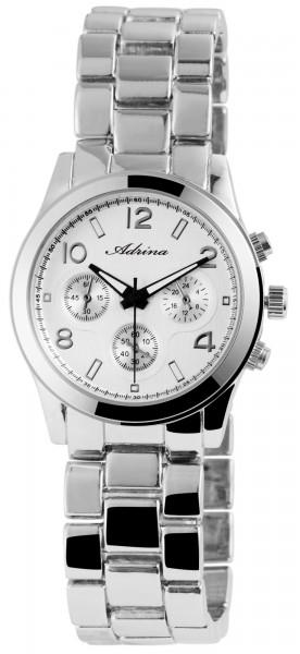 Adrina Damen-Uhr Metallarmband Faltschließe Eleganz Analog Quarz 1800026