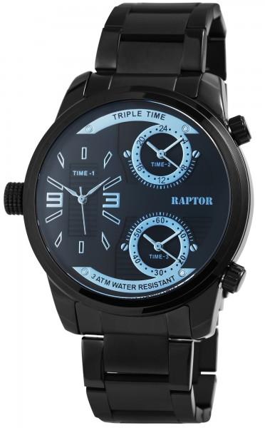 Raptor Herrenuhr mit Edelstahl Armband Analog Anzeige Quarz RA20296