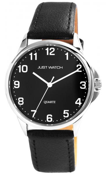 Just Watch Herren-Uhr Echt Leder Dornschließe Analog Quarz JW20160