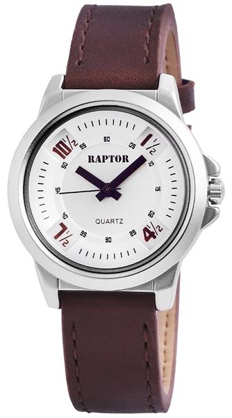 Raptor Damen - Uhr Armband Oberseite Echtleder Dornschließe Analog Quarz RA10158