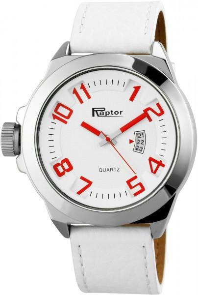 Raptor Herren-Uhr Armband Oberseite Echtleder Datum Analog Quarz RA20119
