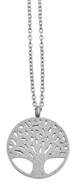 Akzent Damen - Halskette Lebensbaum Anhänger Edelstahl Ankerkette 43+5cm 5010278