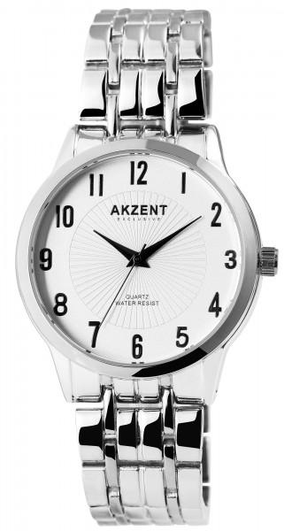 Akzent Exclusive Herren - Uhr Metall Armbanduhr Elegant Analog Quarz 2800071