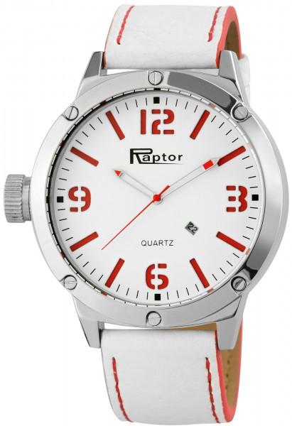 Raptor Herren-Uhr Oberseite Echtleder Datumsanzeige Analog Quarz RA20124