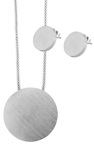 Akzent Damen - Schmuckset Kette mit Anhänger und Ohrringen aus Edelstahl 5120066