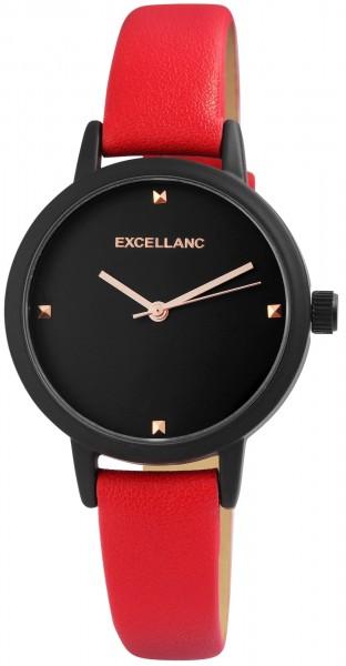 Excellanc Damen - Uhr Lederimitations Armbanduhr Zweifarbig Analog Quarz 1900205