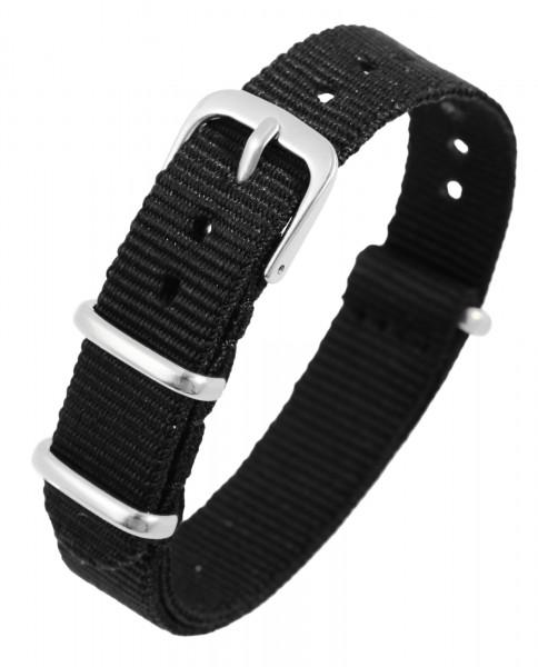 7daysin-Ersatzarmband Uhrenarmband Nylon Dornschließe Anstoßbreite 8600004