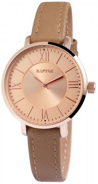 Raptor Damen-Uhr Armband Echtleder Dornschließe Analog Quarz RA10014