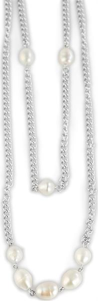Akzent Anker-Halskette aus Edelstahl, silberfarbig, Länge 80 cm / Stärke 3 mm