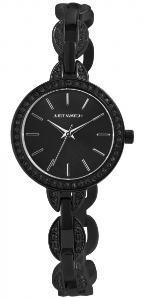 Just Watch Damen-Uhr Edelstahl Armband Datum Strass JW300 Analog Quarz JW10149