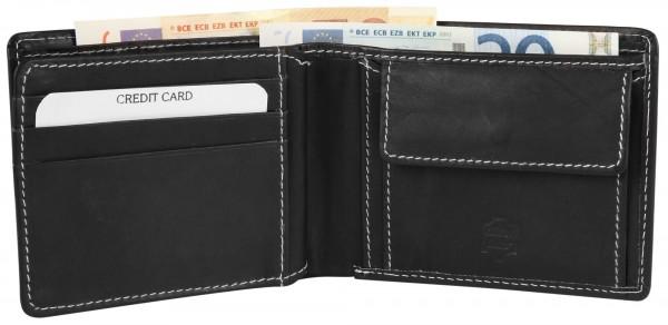 Excellanc Herren-Geldbörse Echt Leder 12x9,5 cm Querformat 3000189
