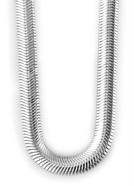 Akzent EdelstahlAkzent Schlangen-Halskette aus Edelstahl, silberfarbig, Länge 45 cm / Stärke 4 mm