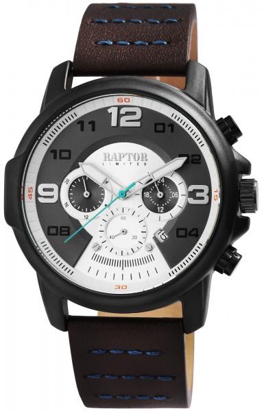 RAPTOR LIMITED Herren Chronograph mit Echtlederarmband RA20281