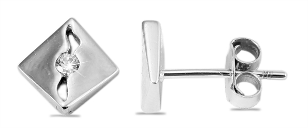 Giulia Luna Damen – Ohrstecker 925er Silber rhodiniert Ohrringe Strass GL5200044