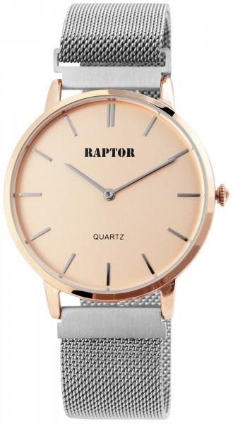 Raptor Unisex-Uhr Edelstahlmilanaiseband Magnetverschluß Analog Quarz RA20202