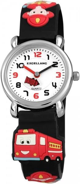 Excellanc Kinder-Uhr Feuerwehr Silikonarmband Dornschließe Analog Quarz 4500017