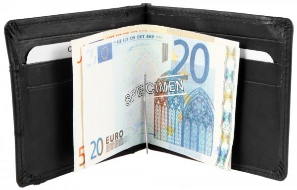 Excellanc Herren-Geldbörse Echt Leder 11 x 9 cm Querformat 3000195