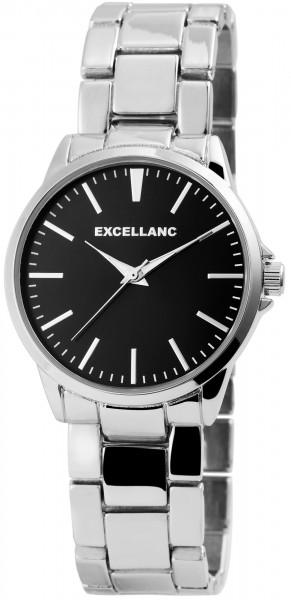 Excellanc Herren-Uhr Gliederarmband Metall Leuchtzeiger Analog Quarz 2800042