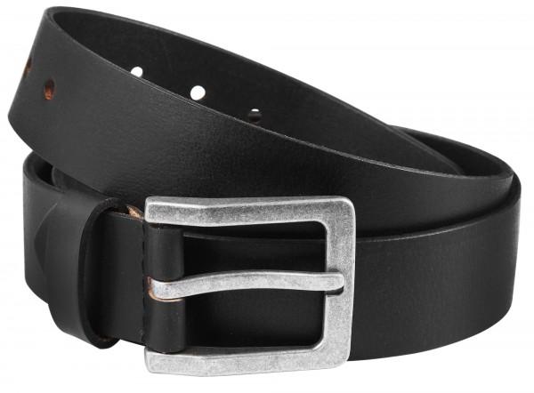 Leonardo Verrelli Herren - Gürtel aus Leder Schwarz 130 cm Dornschließe 3100033