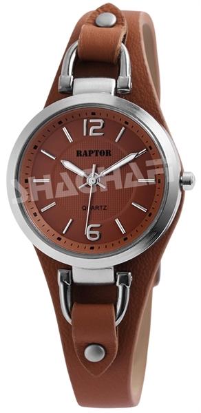 Raptor Damen-Uhr Armband Oberseite Echtleder Dornschließe Analog Quarz RA10157