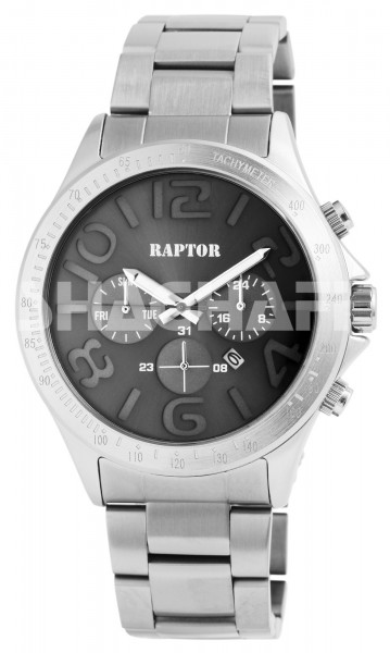 Raptor Herren-Uhr Edelstahlband Datum Analog Quarz RA20167