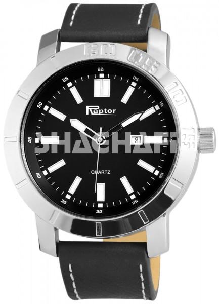 Raptor Herren - Uhr Oberseite Echtleder Aarmbanduhr Analog Quarz RA20120