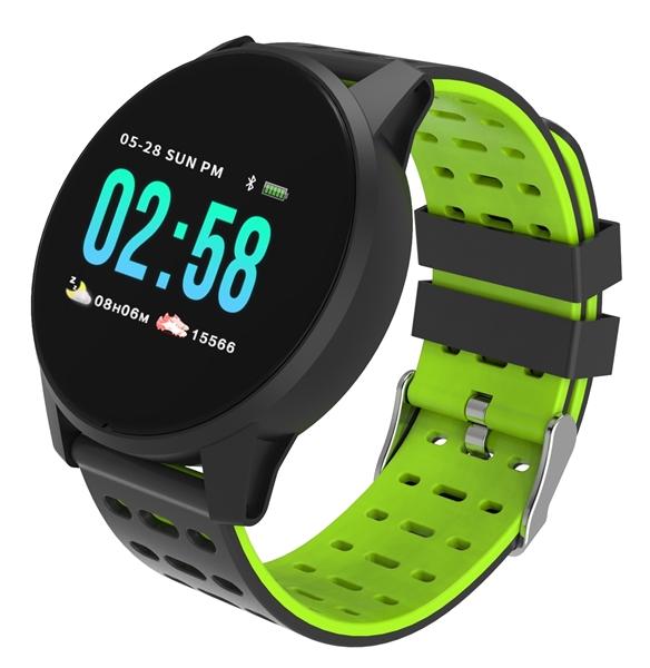 TimeTech Smartwatch Herzfrequenz Bluetooth Aktivitätstracker Silikonband 2440007