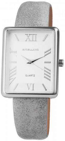Excellanc Damen-Uhr Lederimitat Dorsnchließe Analog Quarz 1900089