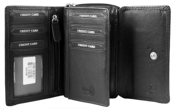 Leonardo Verrelli Damen - Geldbörse Echt Leder Portemonnaie 3000118