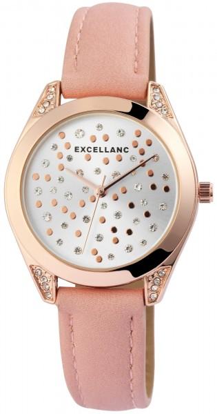 Excellanc Damen – Uhr Lederimations Armband Analog Quarz Uhrwerk 1900176-001