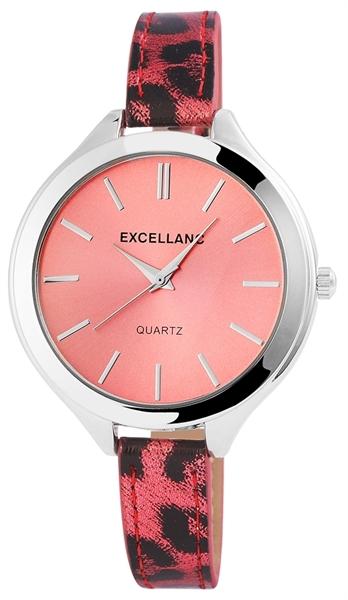 Excellanc Damen-Uhr Lederimitation Tier Print Analog Quarz 195025500192