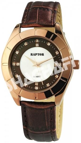 Raptor Damen - Uhr Armband Lederimitat Strass-Steine Analog Quarz RA10108