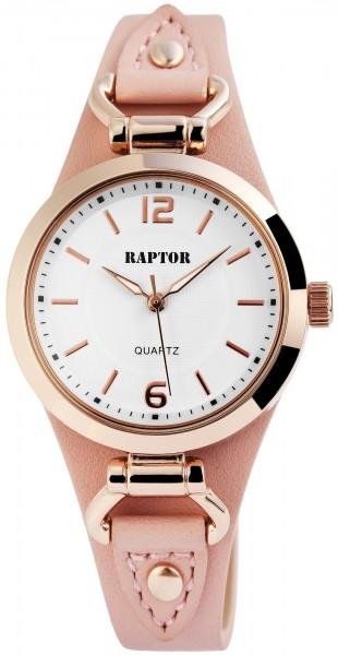 Raptor Damen-Uhr Unterlegarmband Oberseite Echt Leder Analog Quarz RA10148