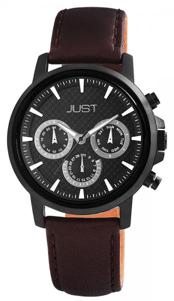 Just JU137 Analog Herrenuhr mit Echtlederband - UVP 89,95 €