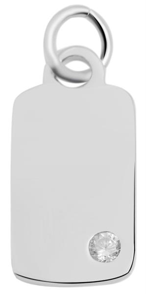 Giulia Luna - Halskette mit Anhänger 925er Silber Strass 45+3 cm GL5210055