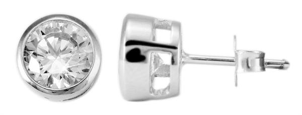 Giulia Luna Damen –Ohrstecker 925er Silber rhodiniert Ohrringe Strass GL5200007