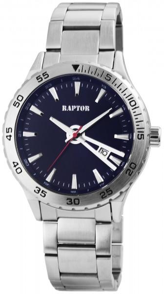 Raptor Herren-Uhr Gliederarmband Edelstahl Datumsanzeige Analog Quarz RA20228