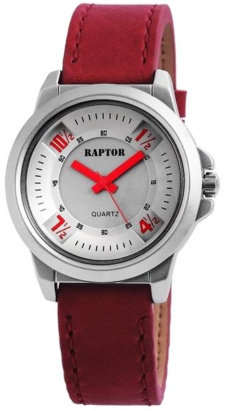Raptor Analog Damenuhr, Leder, Ø 38 mm Rot - 197821500026